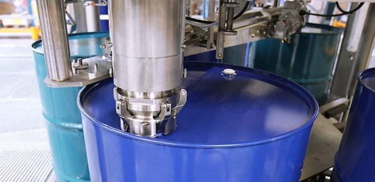 drum and intermediate bulk container filling machine