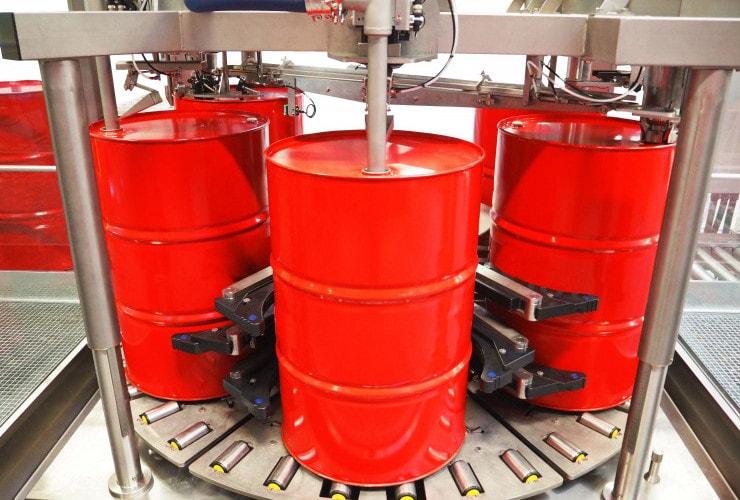 petrochemical drum filling machine